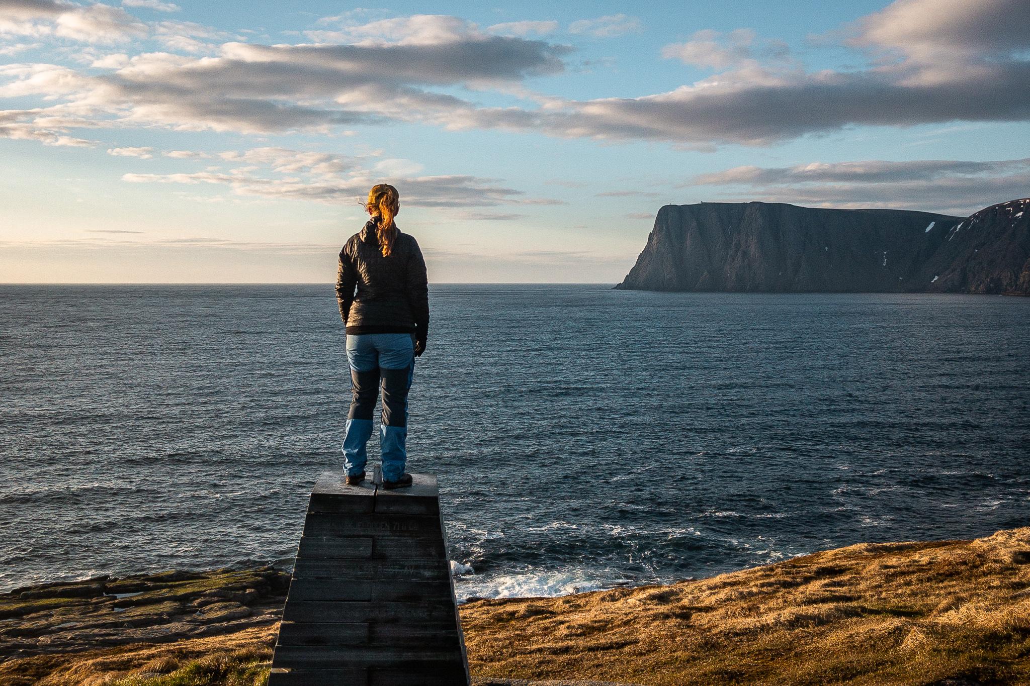 Knivskjellodden - Blick zum Nordkapp