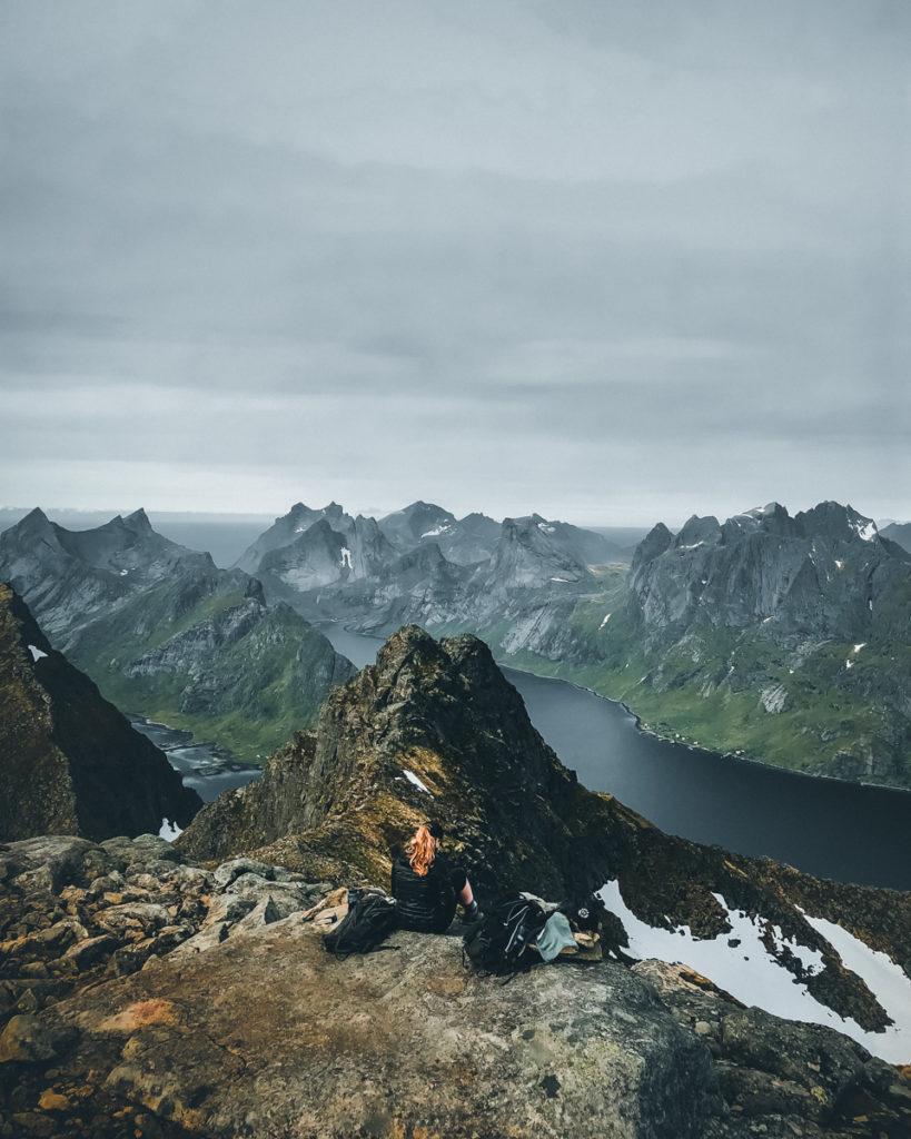 In den Bergen über Reine