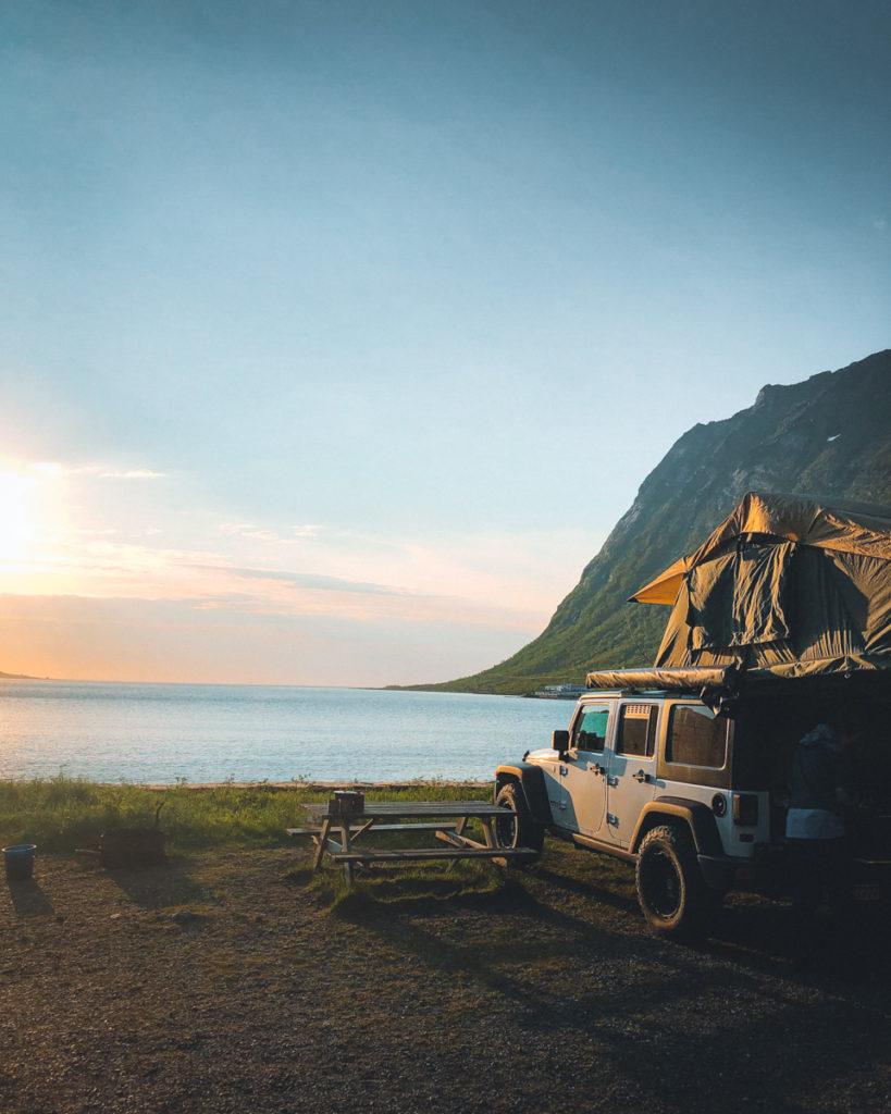 Skandinavien Rundreise mit Dachzelt