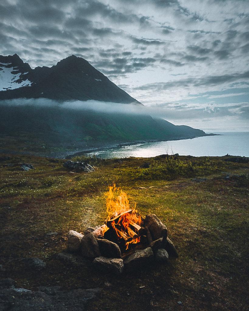 Lagerfeuer auf Senja