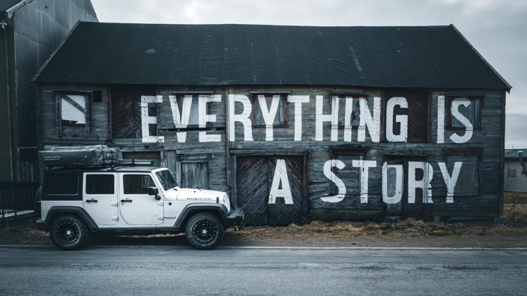 Skandinavien Rundreise Graffiti auf Varanger
